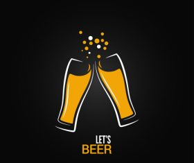 Beer logo vector design 01