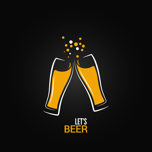 Beer logo vector design 01