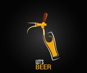 Beer logo vector design 03