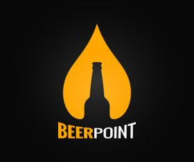 Beer point logo vector