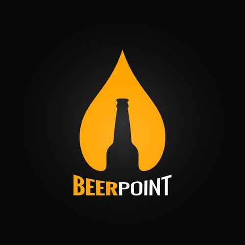 Beer point logo vector