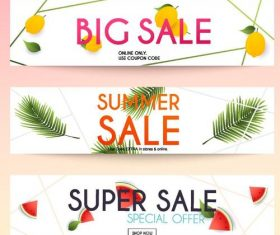 Big sale summer banners vector