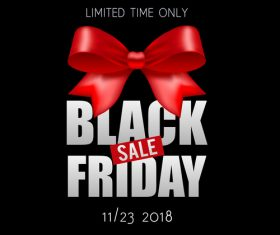 Black Friday sale backgrounds with red bows vector 01
