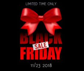 Black Friday sale backgrounds with red bows vector 02