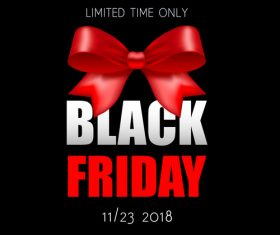 Black Friday sale backgrounds with red bows vector 03