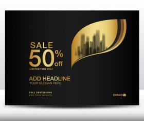 Black billboard poster design template vector 09