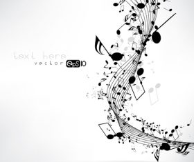 Black musical note with white background vector