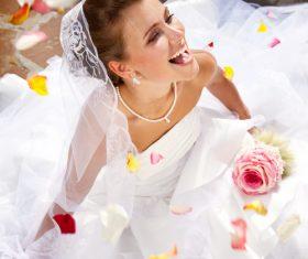 Bride wedding photos in different scenes Stock Photo 02