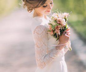 Bride wedding photos in different scenes Stock Photo 03