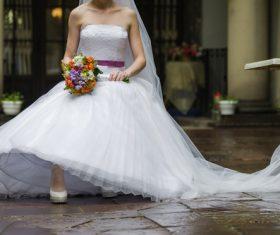 Bride wedding photos in different scenes Stock Photo 05