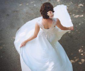 Bride wedding photos in different scenes Stock Photo 06