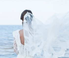 Bride wedding photos in different scenes Stock Photo 10