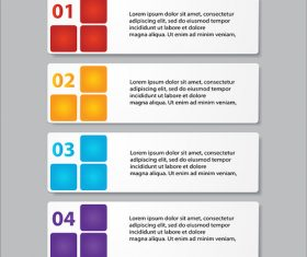 Business banners template with numbers vector 05