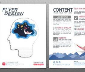 Business brochure flyer design template vector 01