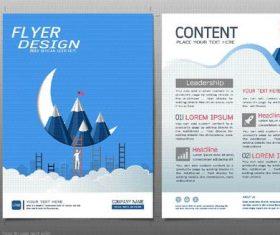 Business brochure flyer design template vector 02