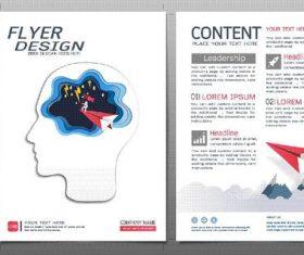 Business brochure flyer design template vector 03