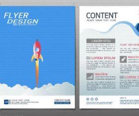 Business brochure flyer design template vector 04