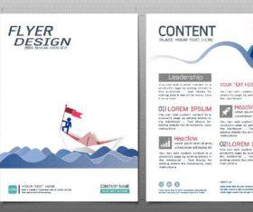 Business brochure flyer design template vector 05