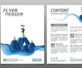 Business brochure flyer design template vector 06