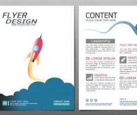 Business brochure flyer design template vector 07