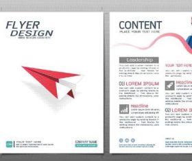 Business brochure flyer design template vector 08