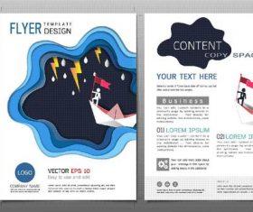 Business brochure flyer design template vector 09