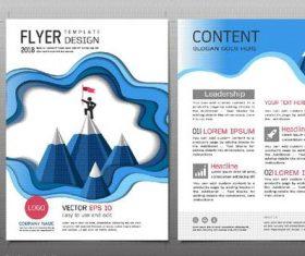 Business brochure flyer design template vector 10