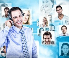 Business online communication Stock Photo 02