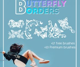 Butterfly Borders Photoshop Brushes
