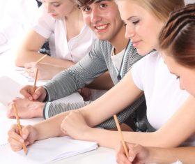 Campus student Stock Photo