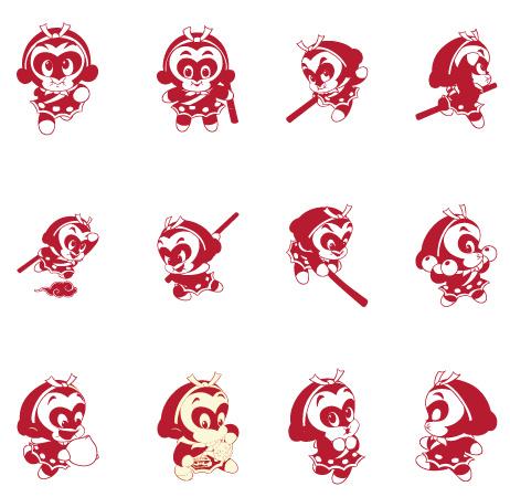 Cartoon Sun Wukong vector