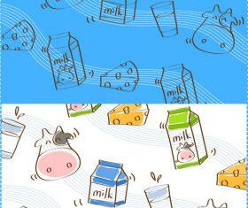 Cartoon animal food and staff vector material