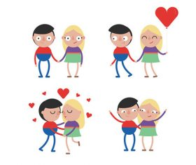 Cartoon couple vector