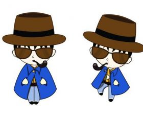 Cartoon detective character vector