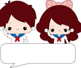 Cartoon dialog vector