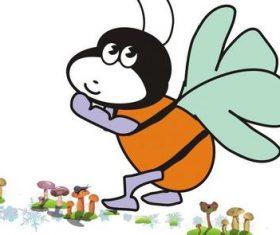 Cartoon little butterfly vector