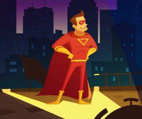 Cartoon superman creative illustration vector