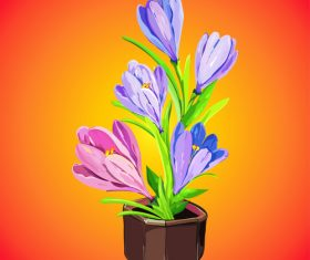 Cartoon vector illustration flower