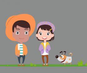 Cartoon young farmer character illustration vector