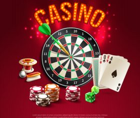 Casino game background vector