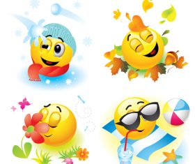 Cheerful cartoon sun with sunglasses vector 03