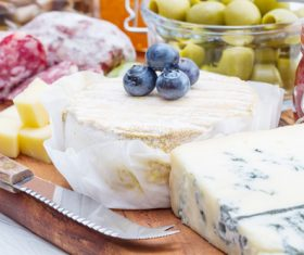 Cheese and blueberry sausage Stock Photo 03