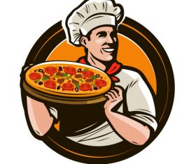 Chef emblem retro design vector 06