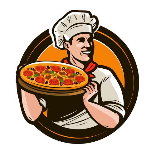 Chef emblem retro design vector 06