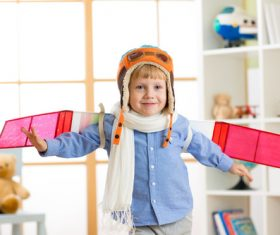 Child who wants to fly Stock Photo 01