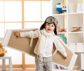 Child who wants to fly Stock Photo 02