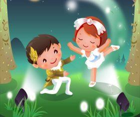 Children dance poster vector