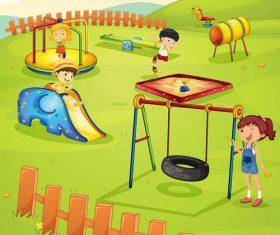 Childrens amusement park vector