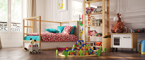 Childrens room and toys Stock Photo 03
