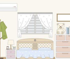 Childrens room illustration